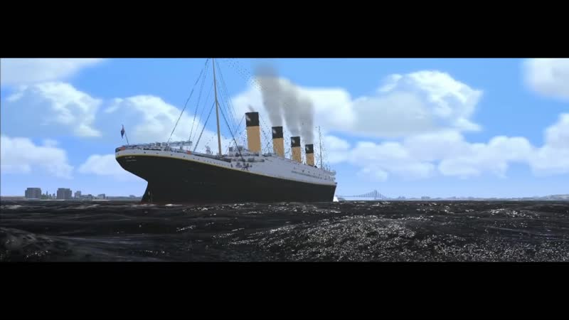 R M S Olympic Leaving New York In Colour