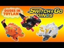 Switch & Go Dinos Turbo Vtech dinosaur transformers toys review battle fighting Fray Dart Zipp