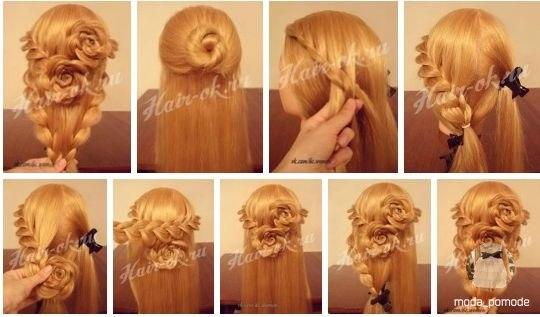 Прически для девочек на выпускной на длинные волосы фото пошагово