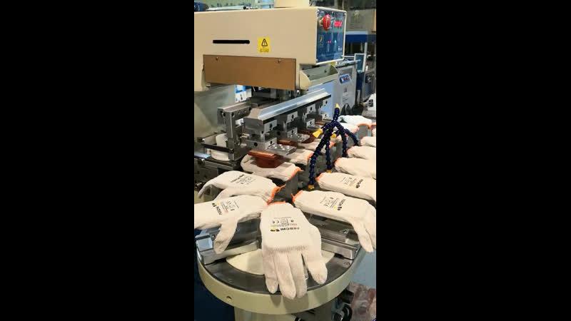Печать логотипа на перчатках