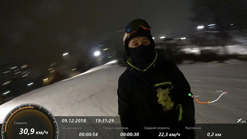 Тест на сноуборде sony action cam x3000r GPS and stabilization