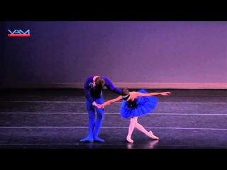 Blue Bird Pas De Deux from Sleeping Beauty Austen Acevedo (13) Bella Kirby (11) YAGP 2013
