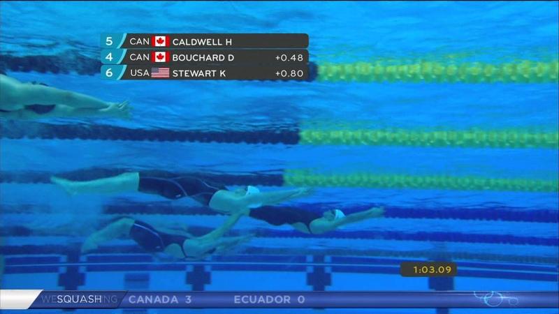 Hilary Caldwell / Women`s Final - 2OOM Backstroke fina swimming - pan am games toronto 2015
