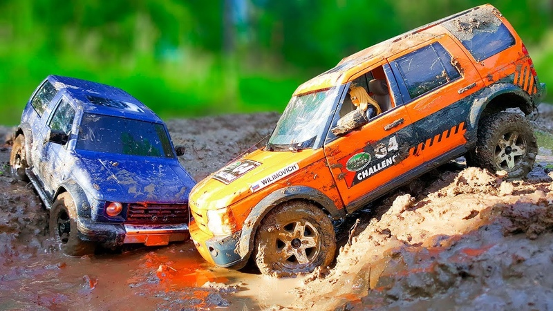 Cars Trail and Stuck in the Mud They Need Car Wash