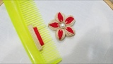 Hand EmbroiderySewing Hacks Amazing Simple Trick For Making Flower With Hair Comb(PART 8)
