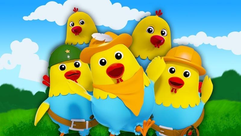 5 непослушных жирных куров   курица рифмы   Дети песня   Five Naughty Fat Hens   Farmees Russia
