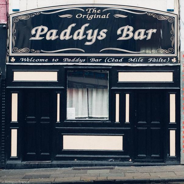 Старинные ливерпульских магазины. Витрины.