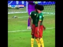 Benoît Assou Ekotto headbutts teammate Benjamin Moukandjo in their World Cup 2014