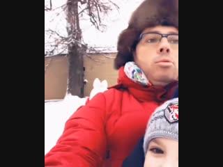 Зимние забавы Максима, Гарри и Лизы Галкиных