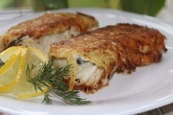 Рыбка в картофельно-сырной шубке Автор: Светлана Голубева 1.Филе рыбное