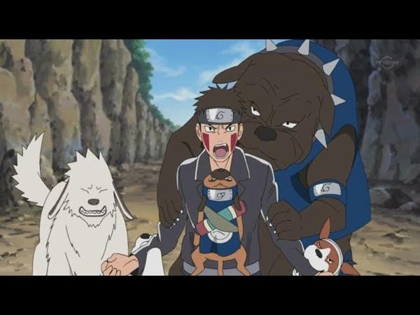 Киба против Ниндзя-Собак [Полный бой]