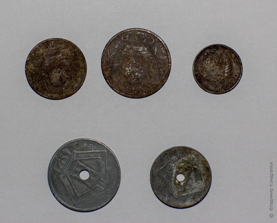 Монеты в исходном состоянии, сторона 1