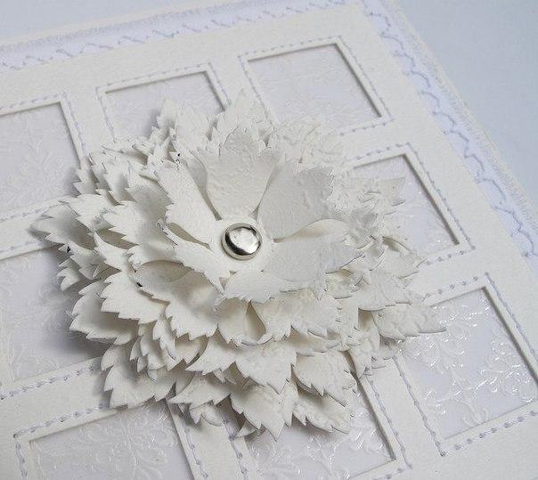 Цветы из бумаги белой своими руками
