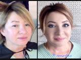 Ксения Саватеева. Смоки айз и пучок на корпоративную фотосессию (до и после)