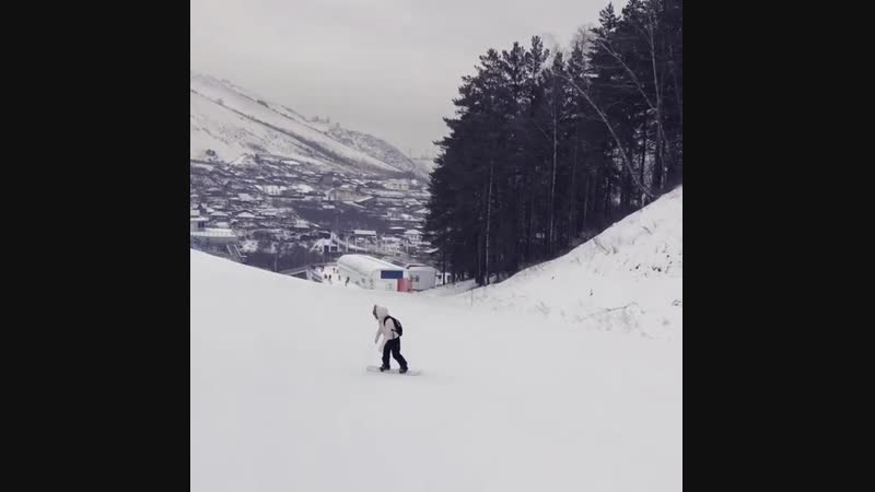 сбылась мечта первый раз на сноуборде яна п 12 01 19