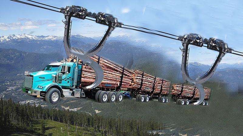 令人敬畏的伐木運輸加工過程!機械的力量真是太精妙了