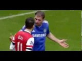 Mesut Ozil & Ivanovic Fight - Arsenal Vs Chelsea  HD
