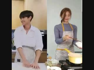mingyu x tzuyu - cooking