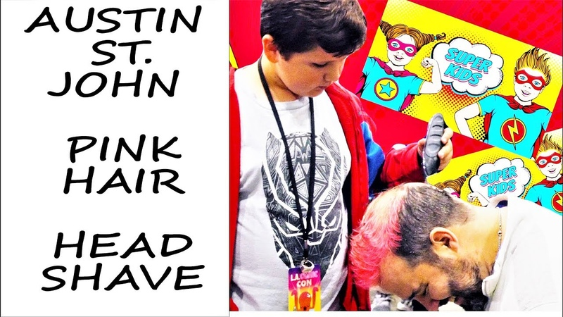 I Dye My Hair Pink 4 Breast Cancer, Fans Shave It 4 All Cancer - AUSTIN ST. JOHN @ LA COMIC CON: