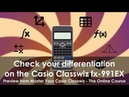 Check your differentiation on the Casio Classwiz using Table Mode the derivative function fx-991EX
