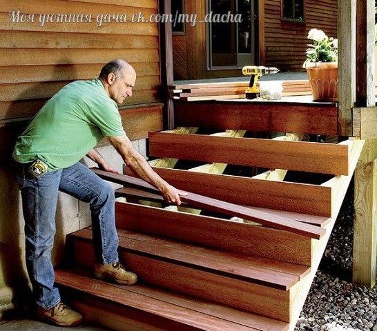 Лестница для террасы красота своими руками. Лестница - не такая простая конструкция как кажется на первый взгляд, а изготовление лестницы, даже не большой, является непростым делом. Перед
