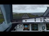 Fslabs A320-X landing at Pago Intl (NSTU) P3DV3.4