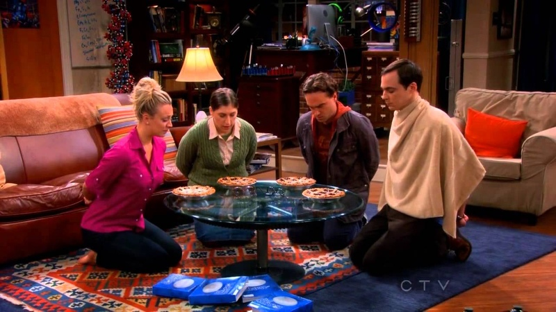 TBBT Game Night Where's Waldo Wrestling Kissing Long Division and Pie Eating