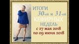 Минус 39,8 кг! Итоги 30 и 31 недели с 27 мая 2018 по 09 июня 2018