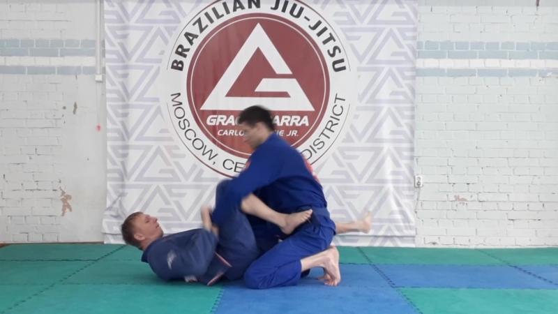 Команда Gracie Barra Central District Moscow. Свип ножницы с выбиванием колена