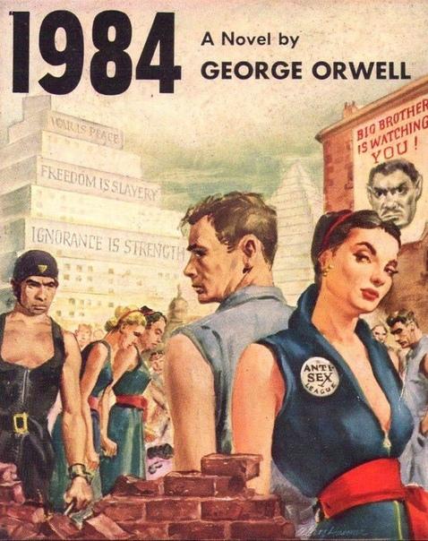 """Обложки из разных стран культового романа-антиутопии Джорджа Оруэлла """"1984""""."""