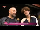 Интервью с Халитом Эргенчем и Бергюзар Корель на выходе из ресторана...29/09/2018