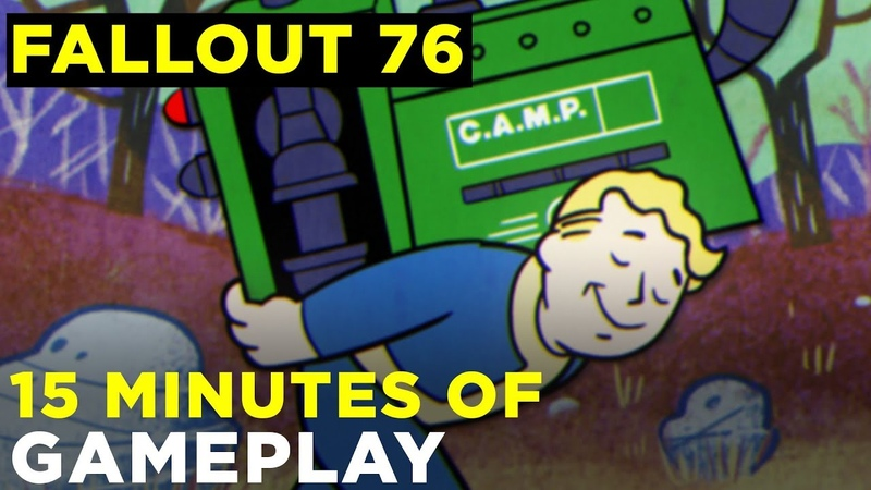 Fallout 76 — 15 minutes of gameplay | PVP, trading, VATS, leveling and more