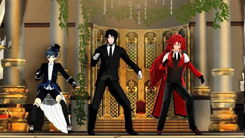 【MMD】Gentleman【Sebastian, Ciel and Grell】【Black Butler】