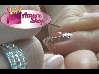 Жидкие камни и литье на ногтях, броши на ногтях гель-лаками Kodi часть 2