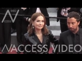 Isabelle Huppert on the red carpet for the Premiere of Le Grand Bain in Cannes