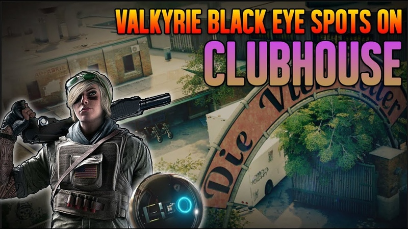 CLUBHOUSE Valkyrie Black Eye Cams Spots R6 Classes Rainbow Six Siege