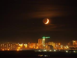 Луна и Сатурн над Ижевском
