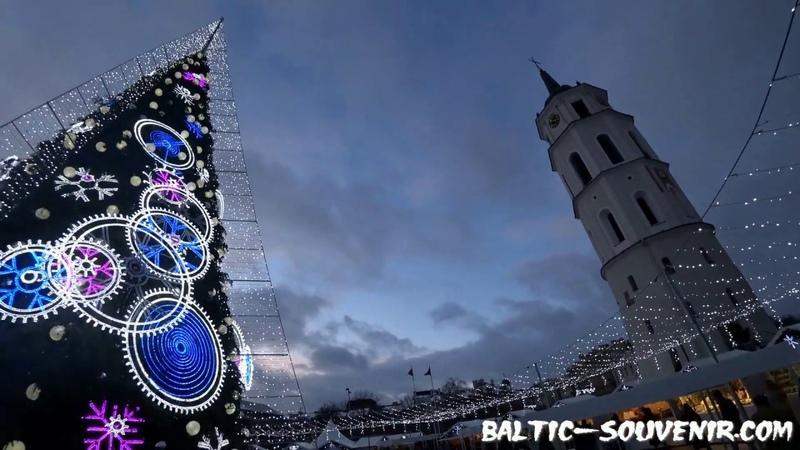 Новый год Вильнюс Литва Naujieji metai Vilnius Lietuva Christmas Lithuania