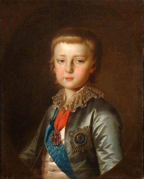 Портрет великого князя Константина Павловича. Конец 1780-х