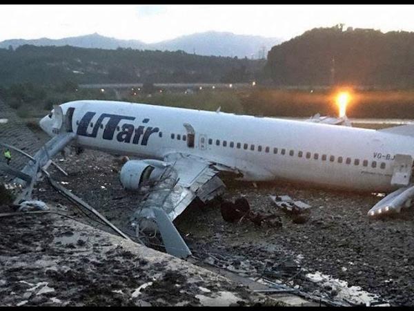 Переговоры пилотов Боинг 737 ЮТэйр в Сочи после выката с ВПП