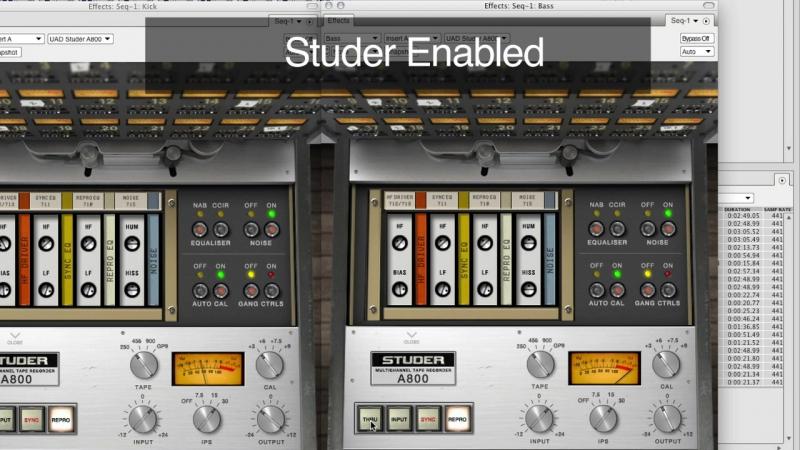 Studer A800 Multichannel Tape Recorder Plug In Demo