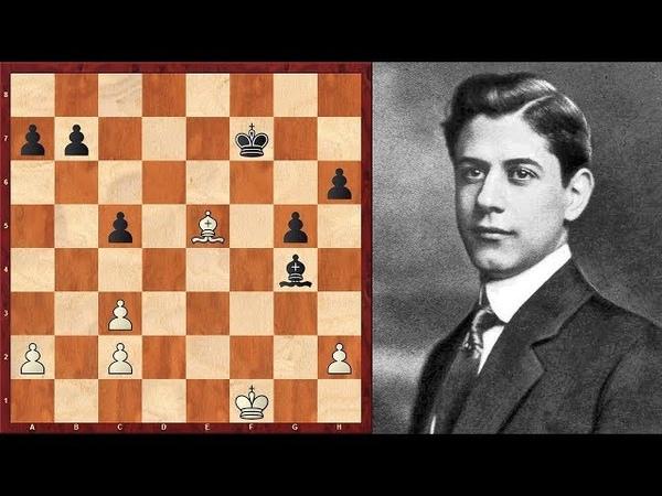 Шахматы. ШЕДЕВРАЛЬНЫЙ ЭНДШПИЛЬ Хосе Рауля Капабланки!
