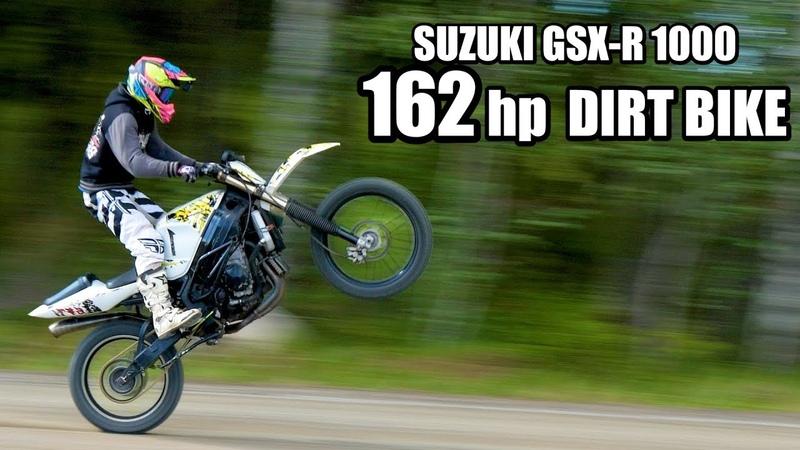 SUZUKI GSX-R Dirt Bike 1000cc - OFF ROAD test ride