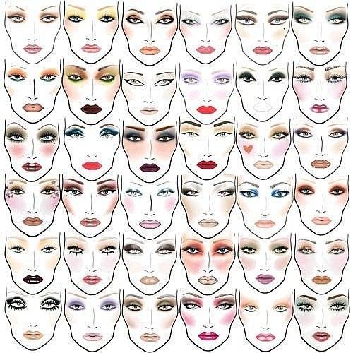 схемы макияжа для Вашего лица