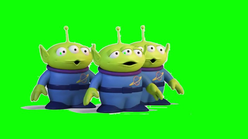 Toy Story Alien Green Screen Футаж История Игрушек на зеленом фоне Хромакей