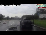 Донецк Выстрел снайпера и сигнальная ракета! 19 07 2014