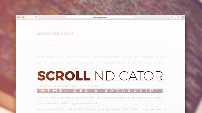 Scroll Indicator Using JavaScript HTML CSS JavaScript