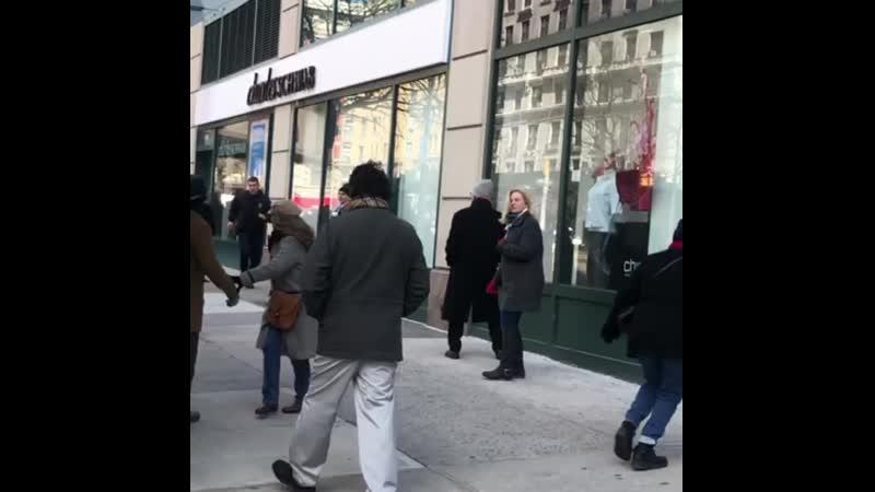 Rami Malek filming Mr Robot New York