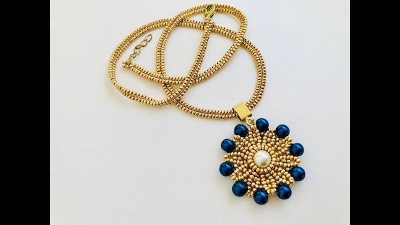 How to make Beaded Chain for your lovely Pendants.Herringbone rope