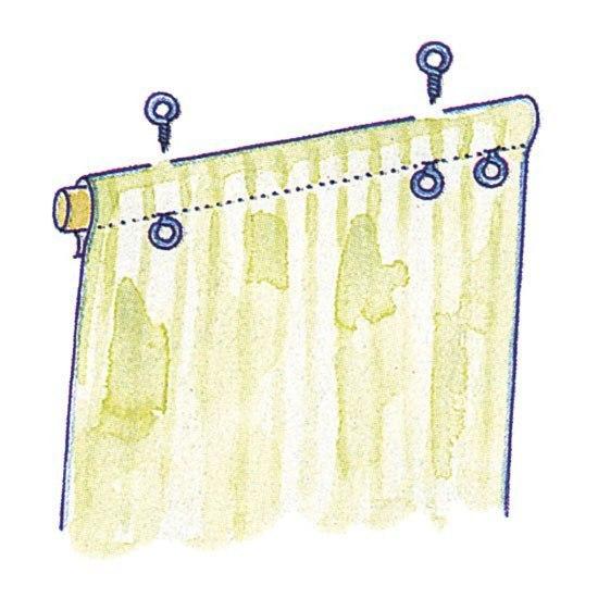 Рулонные шторы своими руками. Мастер-класс!